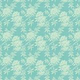 Tissu tilda 1m x 110cm flower bush teal - 26