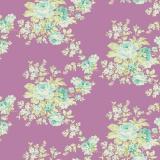 Tissu tilda 5m x 110 cm autumn rose lilac - 26