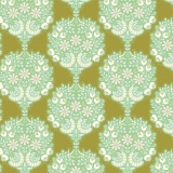 Tissu tilda 1m x 110cm flower tree green - 26