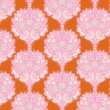 Tissu tilda 1m x 110cm flower tree gingers - 26