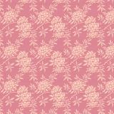 Tissu tilda 1m x 110cm flower bush pink - 26
