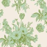 Tissu tilda (1m) 110 cm botanical sage (cottage) - 26