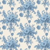 Tissu tilda (1m) 110 cm botanical blue (cottage) - 26