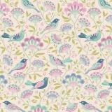 Tissu tilda 50x55 bird tree lilac - 26