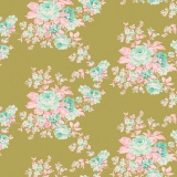 Tissu tilda 50x55 autumn rose green - 26