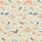 Tissu tilda 50x55 bird tree ginger - 26