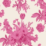Tissu tilda 50x55 botanical plum (cottage) - 26