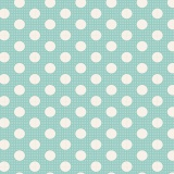 Tissu tilda 5mx110 cm turquoise pois moyens - 26