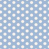 Tissu tilda 1mx110 cm bleu pois moyens - 26