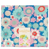 Tissu tilda 50x55 cm lemontree boogie flower blue - 26
