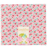 Tissu tilda 50x55 cm lemontree flowerfield red - 26