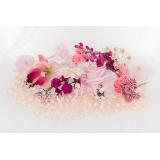 Assortiment de 10 modèles fleurs nuance rose - 265
