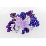 Assortiment de 10 modèles fleurs nuance violet - 265