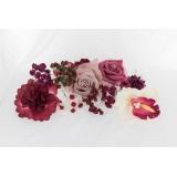 Assortiment de 10 modèles fleurs nuance bordeaux - 265