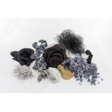 Assortiment de 10 modèles fleurs gris noir - 265