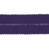 Tresse pre-pliee 3cm violet