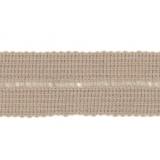Tresse pre-pliee 3cm beige
