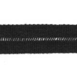 Tresse pre-pliee 3cm anthracite