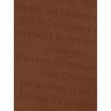 Coupon aïda 30x40 parchemin marron  - 282