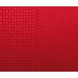 Toile damier 8/8cm aïda 7 / aïda 14 rouge 150 - 282