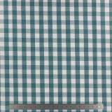Tissu vichy popeline coton 10/10mm canard