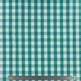 Tissu vichy popeline coton 10/10mm emeraude