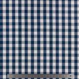 Tissu vichy popeline coton 10/10mm marine150cm