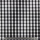 Tissu vichy popeline coton 10/10mm noir