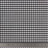 Tissu vichy popeline coton 3/3mm noir