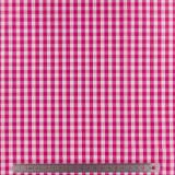 Tissu vichy popeline coton 6/6mm fuchsia