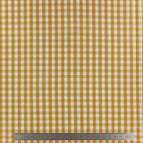 Tissu vichy popeline coton 6/6mm safran