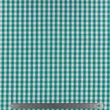Tissu vichy popeline coton 6/6mm emeraude