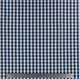 Tissu vichy popeline coton 6/6mm marine