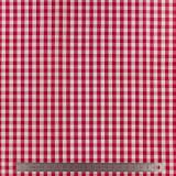 Tissu vichy popeline coton 6/6mm rouge