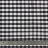 Tissu vichy popeline coton 6/6mm noir