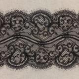 Bande jacquard noir 15 cm