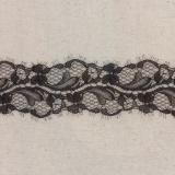 Bande jacquard noir 6,5 cm