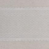 Bande jacquard blanc 15 cm