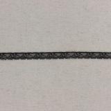 Bande rachel noire 1,3 cm