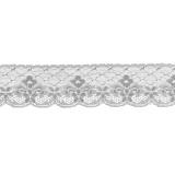 Bande rachel blanc 6 cm