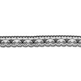 Dentelle noir 2,5cm largeur