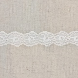 Bande rachel lycra blanc 2,5 cm