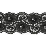 Bande rachel lycra noir 5 cm