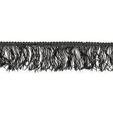 Galon frange 5cm noir - 292