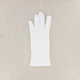Gant 100%coton blanc t.6,5