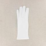 Gant 100%coton blanc t.7