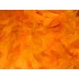 Boa moyen plumes déchirées 1,90m orange fluo