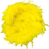 Boa moyen plumes déchirées 1,90m jaune