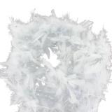 Boa moyen plumes déchirées 1,90m gris