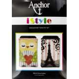 Kit Anchor I style canevas phone cover 13 5x9cm x2 - 32